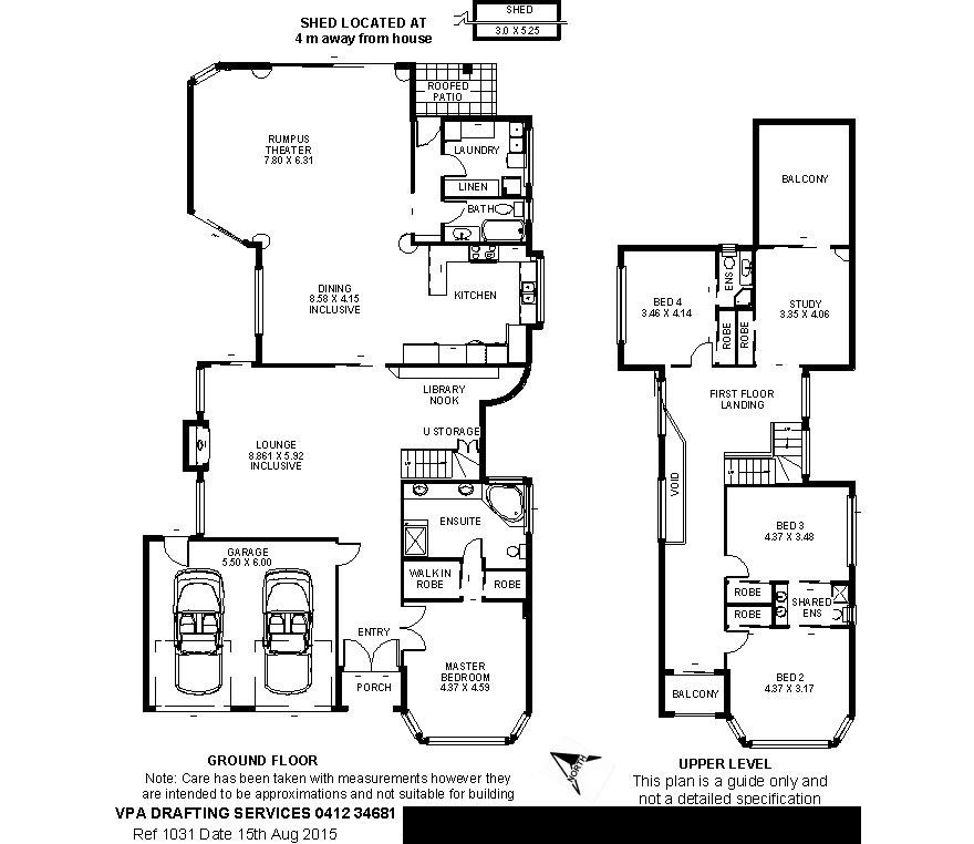 Floor plan professional drawing of floor plans vpa for Floor plan drafting services