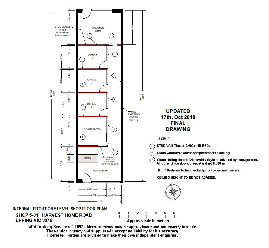Shop Fitting plan drawing